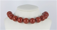 String Beads, Jasper (red), 20mm