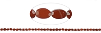 Strang Mini-Oval, Jaspis (rot), facettierter Rand, 04 x 06mm