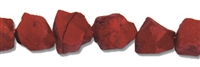 String Nugget, Jasper (Red Jasper), rough (semi polished), app. 12-17mm