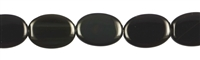 String flat Oval, Obsidian (Rainbow), 17 x 12mm