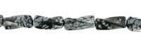 String Cylinder (twisted), Obsidian (Snowflake), 20mm
