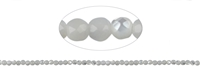 String Beads, MOP (white), faceted, 02mm, 39cm