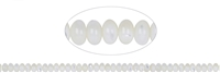 String Button, Mother of Pearl (light), 04 x 08mm