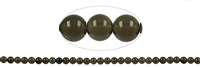 String Beads Obsidian (Smoky with Gloss) A, 06mm