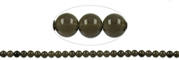 String Beads Obsidian (Smoky with Gloss) A, 08mm