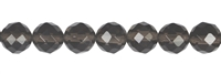 String Beads, Obsidian (Smokey), faceted, 10mm
