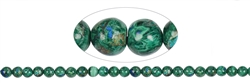 String Beads, Malachite with Azurite, 08-09mm