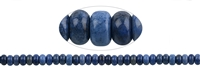 String Button, Dumortierite, 08mm