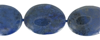 String Oval flat, Dumortierite, 24-40 x 20-30mm