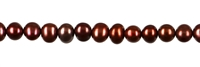 String Potatoe, Freshwater Pearl, rusted red (dyed), 03,5mm