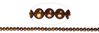 String round, Freshwater Pearl A, brown (dyed), 04-04,5mm