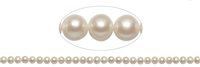 String round, Freshwater Pearl A, white, 06 - 06,5mm