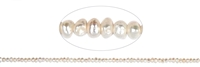 String Button, Freshwater Pearl, 03,5 - 04mm