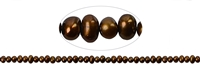 String Potatoe, Freshwater Pearl A, brown (dyed), 03,5-04mm