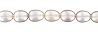 String Ricecorn, Freshwater Pearl A, salmon, 07-08mm