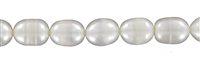 String ricecorn, Freshwater Pearl C, white, 09-10mm