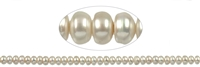 String Button, Freshwater Pearl, 09 - 10mm