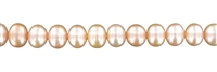 String Button, Freshwater Pearl AB, salmon (natural), 10mm