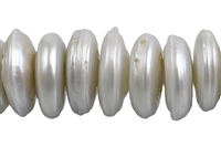 String Slices, Freshwater Pearl AB, creme-white (natural), 03-06- x 15-20mm