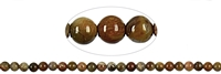 String Beads, Petrified Wood, 08mm