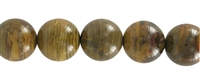 String Beads, Petrified Wood, 17-18mm