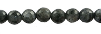 String Beads, Larvikite, facetted, 08mm