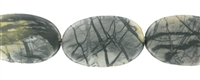 String flat Oval, Picasso Marble, 34-40 x 22-24mm