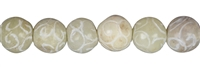 String Beads, Soapstone (China) engraved, 12mm