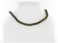 String beads, Bronzite, faceted, 06mm