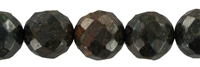 String beads, Bronzite, faceted, 10mm