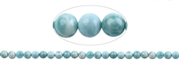 String Beads, Larimar AAA, 08mm