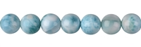 String Beads, Larimar AAA, 09mm, Single Piece Nr. 01