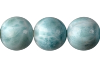 String Beads, Larimar AAA, 17mm, Single Piece Nr. 07