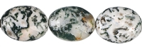 String Flat Oval, Tree Agate, 20 x 15mm