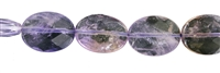 String flat oval, Ametrine, faceted, 20 x 15mm