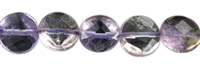 String coin, Ametrine, faceted, 10mm