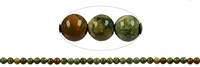 String Beads, Rhyolite (Rainforest), 06mm