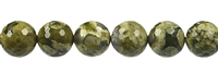String Beads, Rhyolite (Rainforest), faceted, 12mm