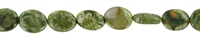 Sting Flat Oval, Rhyolite (Rainforest), 10 x 08mm