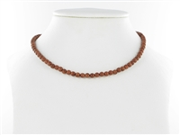 String Beads, Sandstone brown (synt. glass), 04mm
