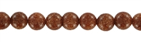 String Beads, Sandstone brown (synt.), 06mm