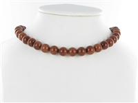 String Beads, Sandstone brown (synt. glass), 10mm