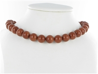 String Beads, Sandstone brown (synt. glass), 12mm