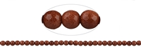 String beads, Sandstone brown (synt. glass), faceted, 06mm