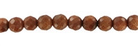 String Beads, Sandstone brown (synt. glass), facetted, 05mm