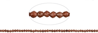 String Beads, Sandstone brown (synt. glass), faceted, 02mm