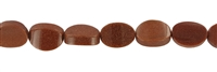 Sting flat Oval, Sandstone brown (synt. glass), slightly curved, 10 x 14mm