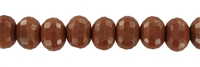 String button, Goldstone brown (synt. glass), faceted, 16x12mm