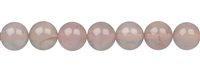 String Beads, Chalcedony (pink), 10mm