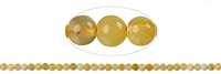 String Beads, Opal (Honey), appr. 06mm
